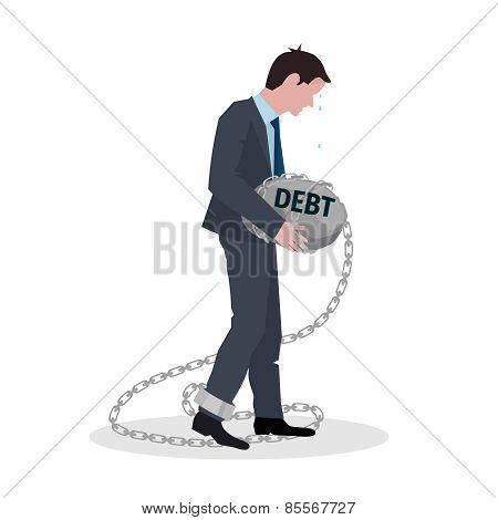 Business Debt Concept