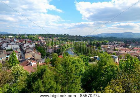 View of the city (Cieszyn in Poland