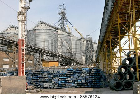 Odessa, Ukraine - April 8: Industrial Goods , Metal , Metal Profile Prepared For Loading On To The S