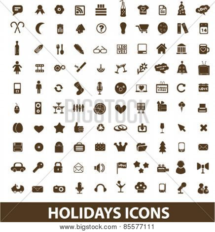 holidays, events isolated icons, signs, illustrations collection concept design set for web and application on background, vector