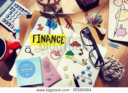 Finance Accounting Adhesive Note Banking Budget Business Concept