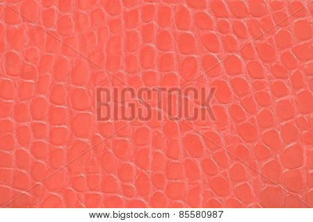Red Embossed Leather Texture Background