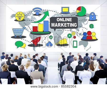 Online Marketing Business Concept