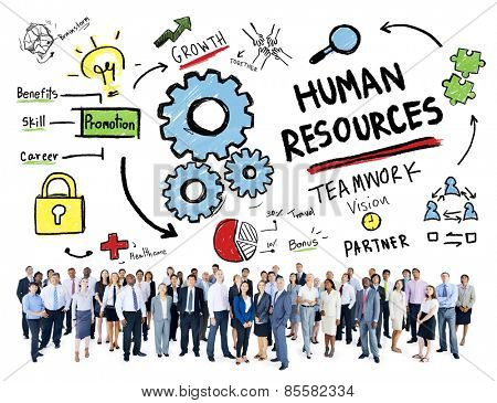 Human Resources Employment Job Teamwork Business Aspiration Concept