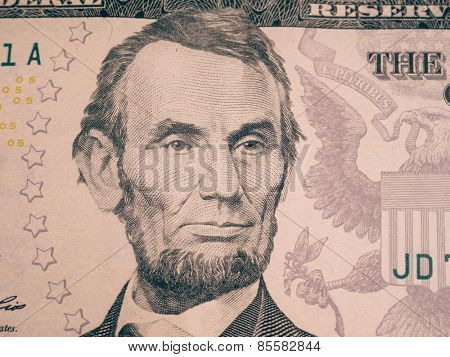 Abraham Lincoln portrait cutout