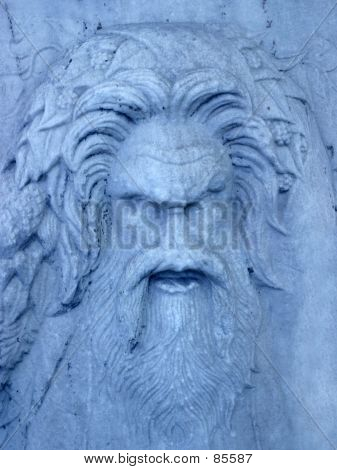 Blue Stone Face