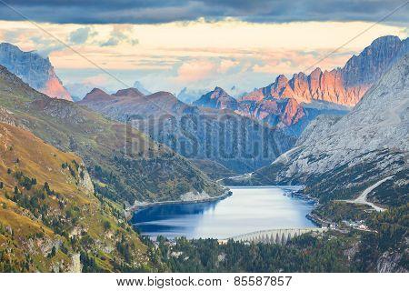 Lago Fedaia, Dolomites, Italy
