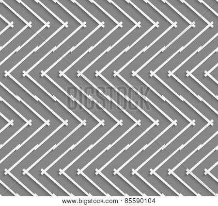 Geometrical Pattern With Horizontal Chevron Lines