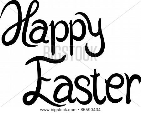 Happy Easter - Calligraphy Text