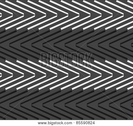 Monochrome Pattern With Black And White Chevrons