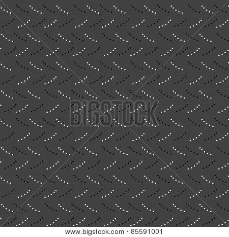 Monochrome Pattern With Gray And Black Dotted Short Lines On Gray