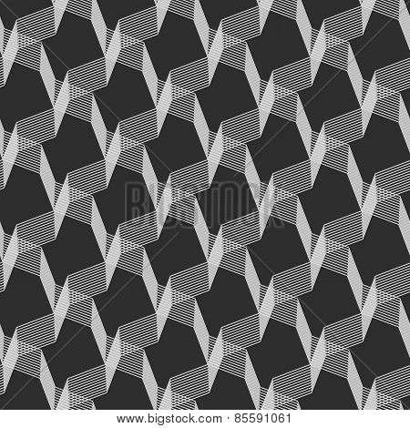 Monochrome Pattern With Gray Intersecting Thin Lines On Gray
