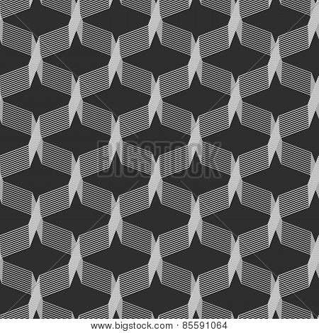 Monochrome Pattern With Gray Intersecting Thin Lines