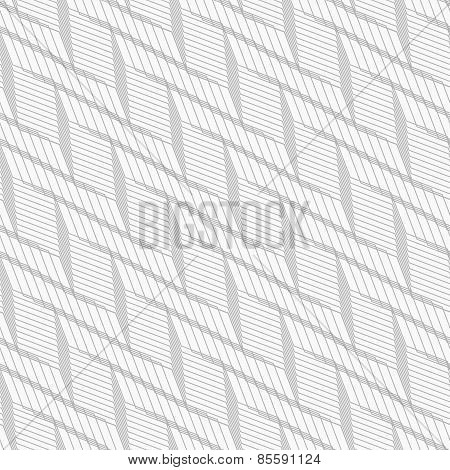 Monochrome Pattern With Light Gray Braid Grid On White