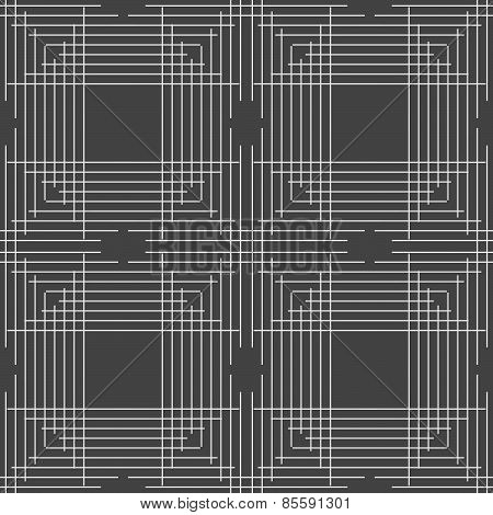 Monochrome Pattern With Thin Gray Intersecting Lines