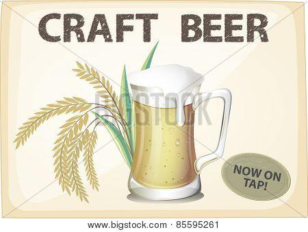 Advertisement poster of craft beer
