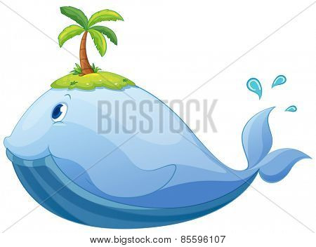 Big whale with an island on the head
