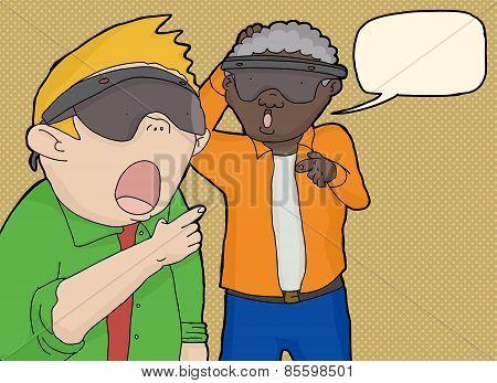 Men Looking At Virtual Reality