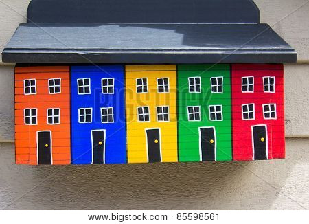Brightly Painted Mailbox