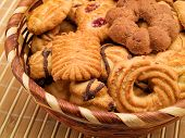 picture of biscuits  - Bowl full of biscuits shot from above - JPG