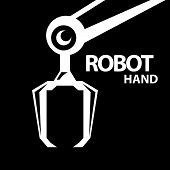 pic of robotics  - vector robotic arm symbol icon - JPG