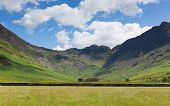 stock photo of haystack  - Lake District mountain view from Buttermere of Haystacks and Fleetwood Pike - JPG