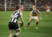 Melbourne - August 21:  Collingwood's Steele Sidebottom In Action During Collingwood's Win Over Adel