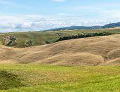 picture of senesi  - Crete senesi characteristic landscape in province of Siena  - JPG