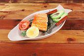 pic of plate fish food  - healthy food - JPG