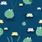 stock photo of cute frog  - Cute frog - JPG
