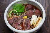 stock photo of buckwheat  - kamo nanban soba - JPG
