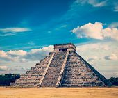 stock photo of mayan  - Vintage retro effect filtered hipster style image of famous mexican landmark  - JPG