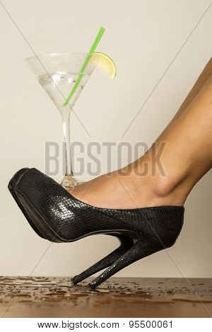 Beautiful Feet And Cocktail