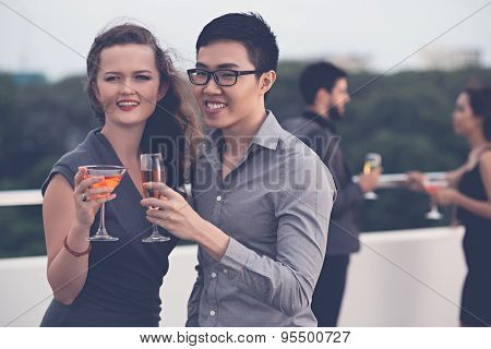 Couple at the party