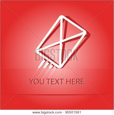 send mail. Paper sticker as bookmark. Vector illustration. Eps10.