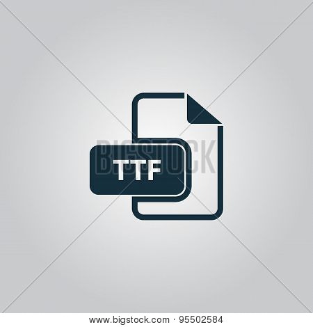 TTF extension text file type icon