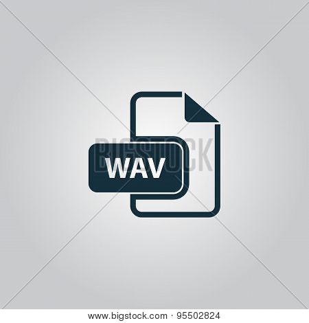 WAV audio file extension icon.