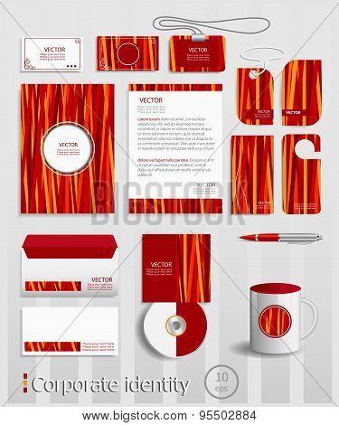 Classic Color Corporate Identity Template Design.
