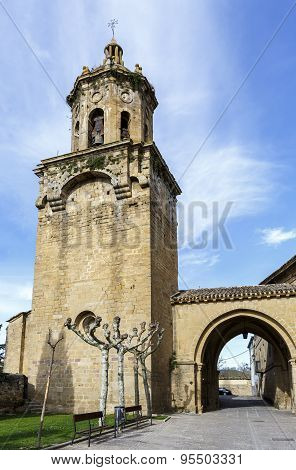 Church Of The Crucifix. Puente La Reina, Navarra. Spain