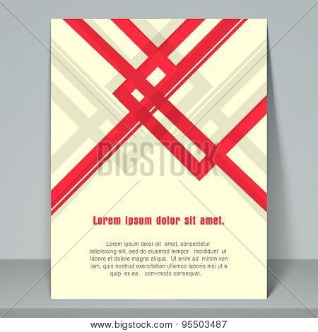 Stylish flyer for business purpose with address bar on yellow background.