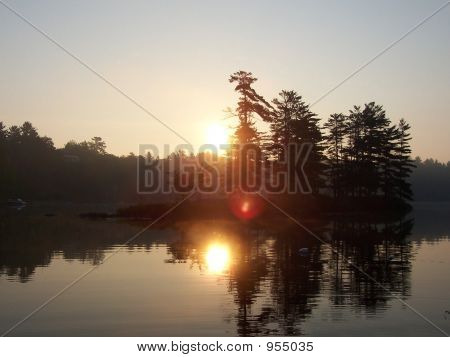 Sunrise Over Dew Island