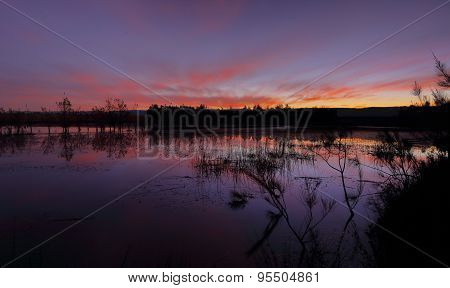 Sundown Colours At Duralia Lakes Penrith