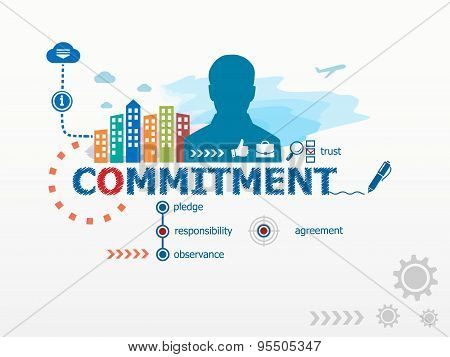 Commitment Concept And Business Man.