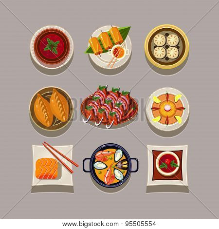 Korean food Vector Illustration