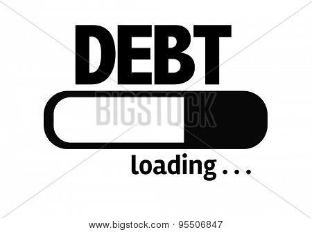 Progress Bar Loading with the text: Debt