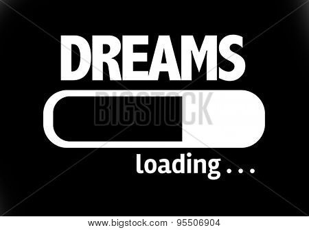 Progress Bar Loading with the text: Dreams
