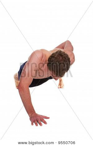 Man Doing A One Handed Push Up