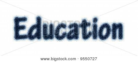 Education Text With Halftone Effect