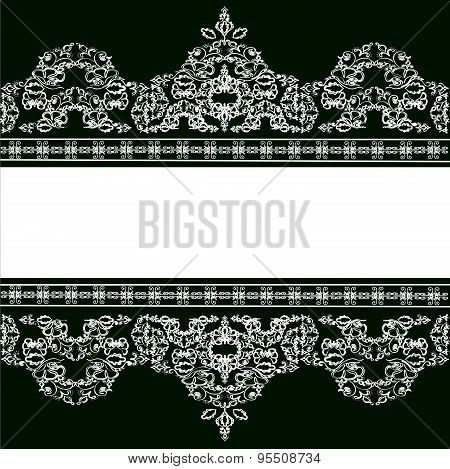 beautiful vintage vector background with an ornament in Victorian style