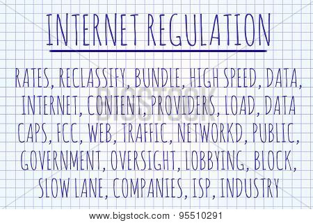 Internet Regulation Word Cloud